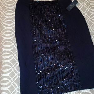 CYBER MONDAY Black skirt with sequin design